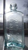 Ague Medicine patent quack medicine new york pontil antique civil war bottle