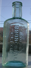burlington vermont elixir balsalm cure antique bottle medicine