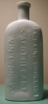 windsor vermont apothocary paines patent medicine milk glass antique bottle