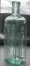 antique bitters bottle vermont rare