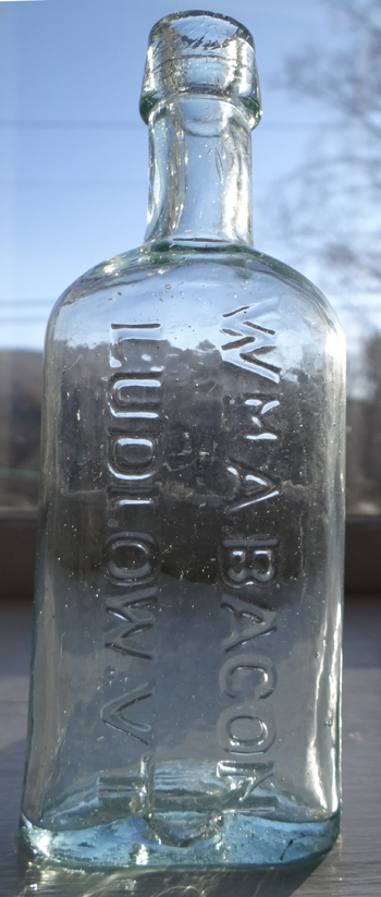 Vermont Pattern medicine opium pontil glass antique bottle ludlow