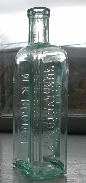 Antique pontiled tonic bottle
