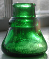carter antique ink cone top bottle