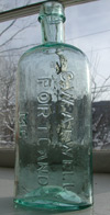 New England pontiled medicine bottle Maine