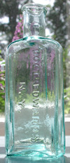 edward new york patent medicine dr edwards pontil antique bottle