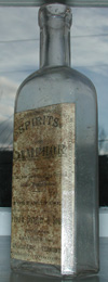 labeled antique vermont medicine bottle