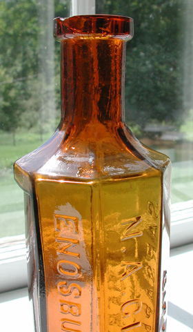gilberts sarsaparilla bitters enosburg enosburhg vermont antique bottle