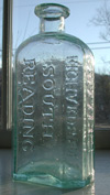 medicine bitters pontiled mass antique bottle
