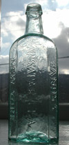 New york pontiled medicine sarsasparilla antique bottle