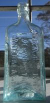 New york pattern Medicine cure antique bottle iron pontil